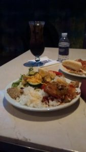 Diamond Lounge meal