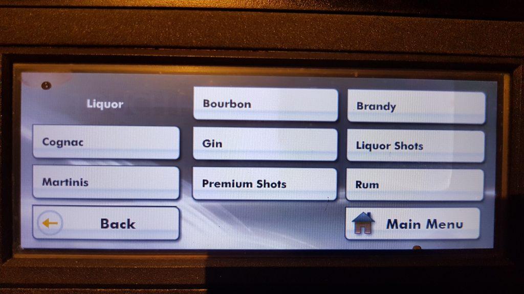 Caesars AC drink menu